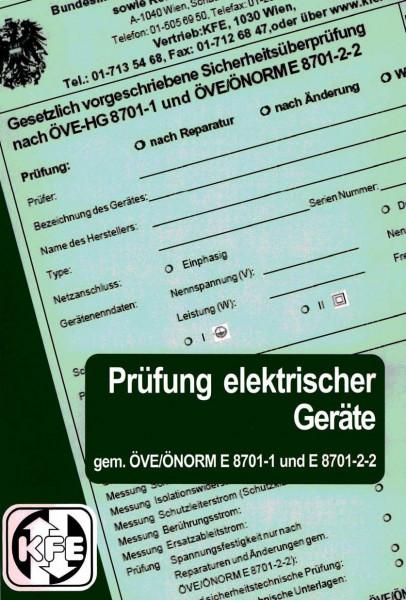 """Broschüre """"Prüfung gemäß E8701"""""""