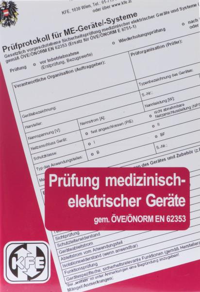 "Broschüre ""Prüfung elektrisch-medizinischer Geräte"" gem. ÖVE/ÖNORM EN62353"