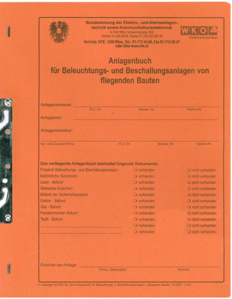 Anlagenbuch-Mappe für Beleuchtungs- und Beschallungstechniker