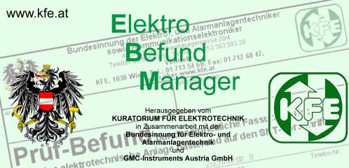 EBM - Anlagendokumentation Elektrischer Anlagen (zur elektronischen Befunderstellung)