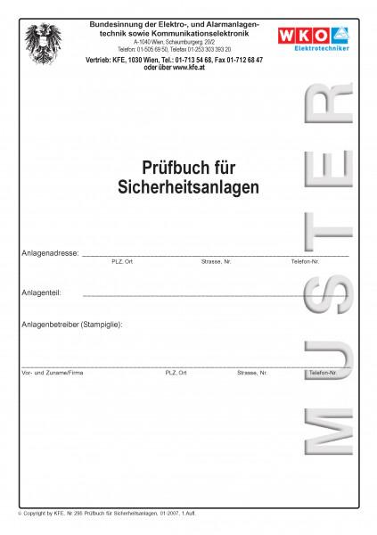Prüfbuch für sicherheitstechnische Anlagen