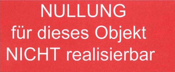 """Kleber """"Nullung nicht realisierbar"""""""