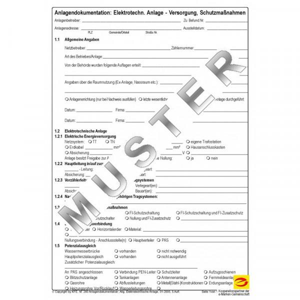 Anlagendokumentation Elektrische Anlagen - Schutzmaßnahmen