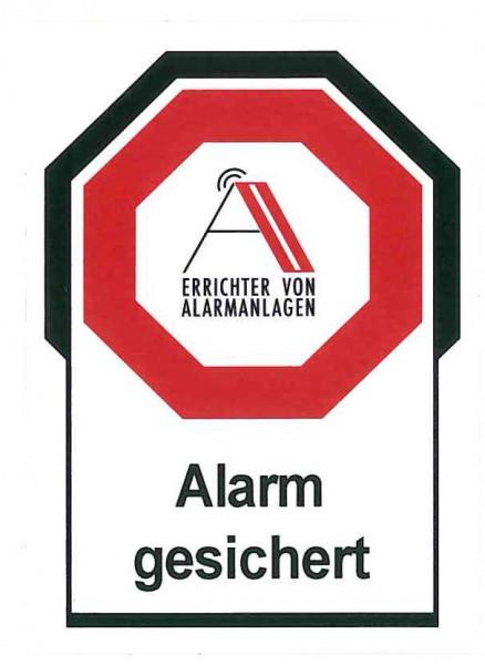 """AA-Kleber """"Alarm gesichert"""""""