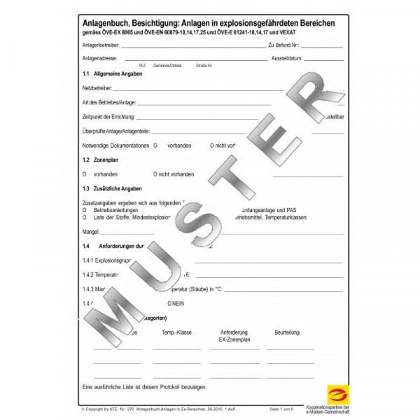 Anlagendokumentation Besichtigung EX-Anlage
